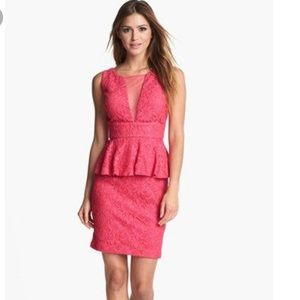 Adrianna Papell Hailey lace peplum dress